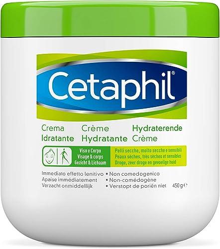 Cetaphil, Crema Idratante Viso e Corpo, Idratazione Intensa fino a 24 Ore, Ideale per Pelle Secca, Molto Secca, Sensi...