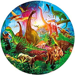 1000 Piece Dinosaur World Round Jigsaw Puzzle, Vibrant Color Challenge RoundEducational Intelligence Games Toys Jigsaw Pu...