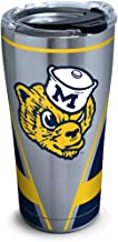 Tervis 1306853 Michigan Wolverines Vault Stainless Steel Insulated Tumbler with Clear and Black Hammer Lid, 20oz, Silver