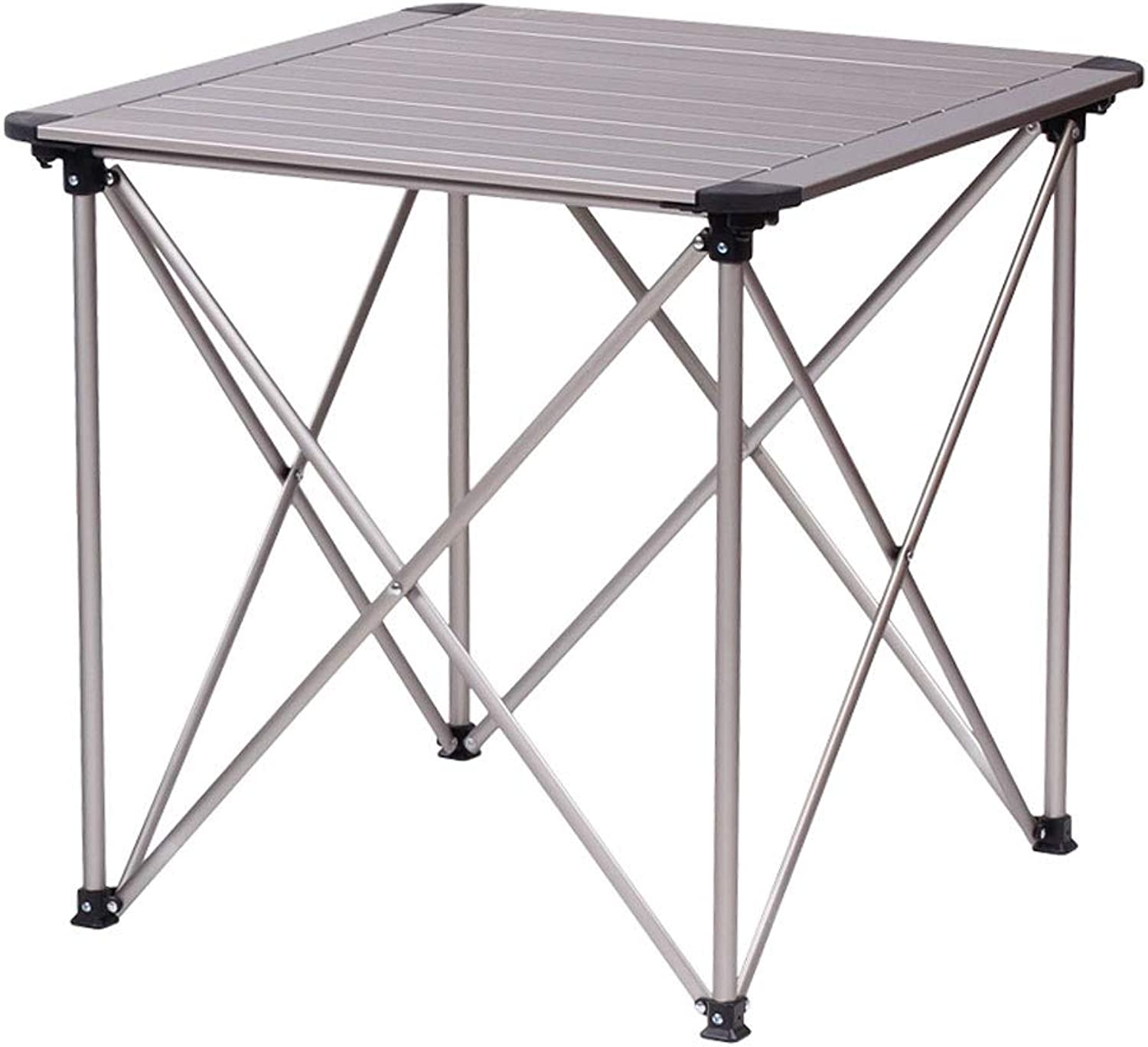 ZA Outdoor Portable Aluminum Alloy Folding Table, Lightweight Camping Table with Storage Bag, Foldable Desk for Picnic Party Dining Camp BBQ Fishing