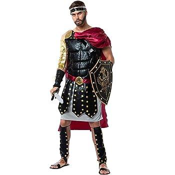 EraSpooky Disfraz de Gladiador Romano Disfraces Capa Fiesta de ...