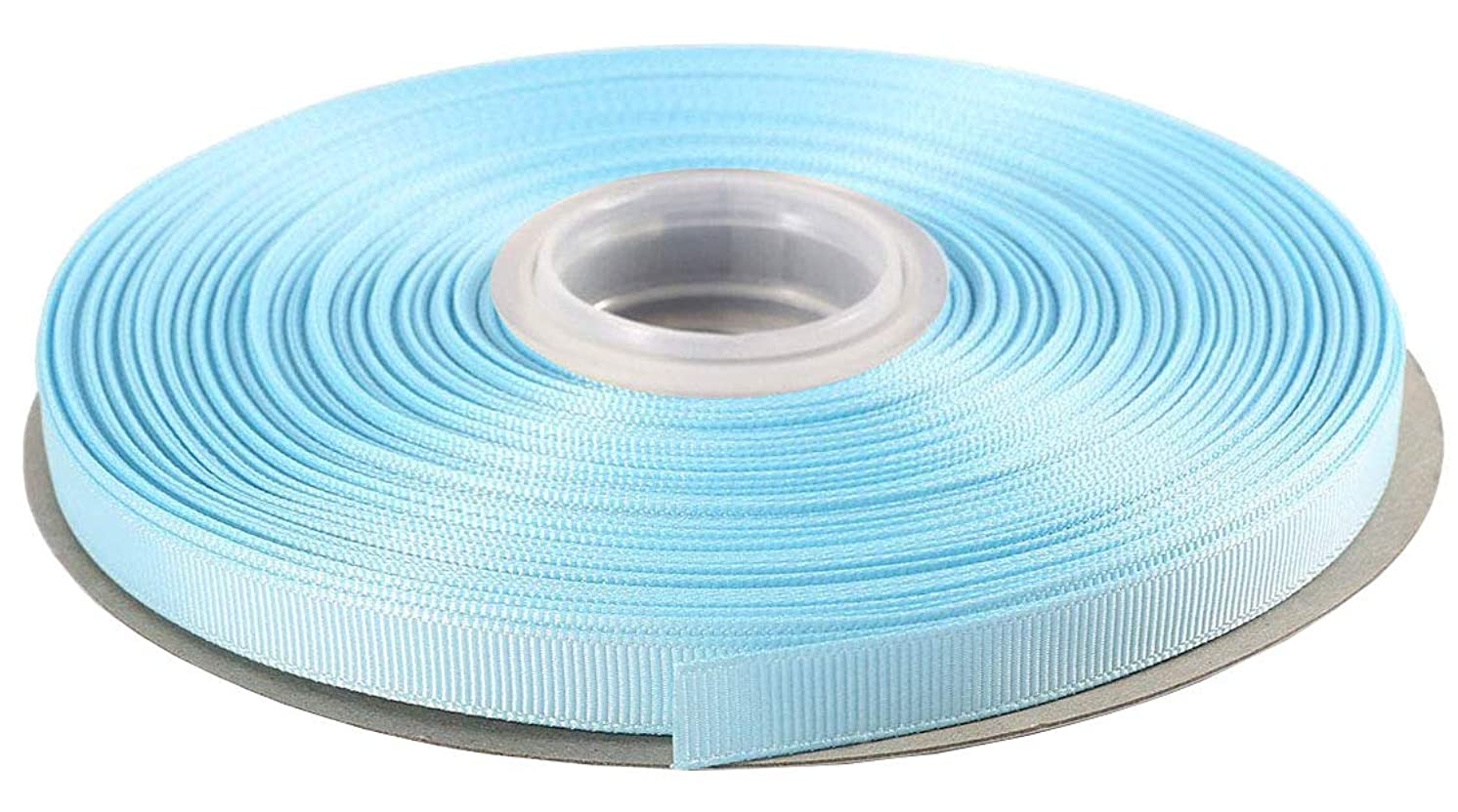 DUOQU 3/8 inch Wide Grosgrain Ribbon 50 Yards Roll Multiple Colors Light Blue
