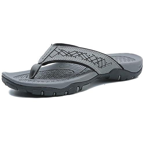 f8472ebb57db JIAWA FILP Flops for Men Summer Sandals Lightweight Soft Thong Shoes for  Outdoor and Indoor