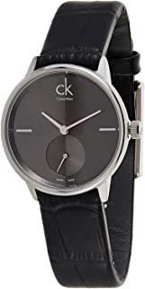 Calvin Klein Women's Black Dial Leather Band Watch - K2Y231C3