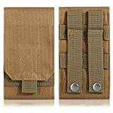 DOUN Tactical Phone Holster Army Mobile Phone Belt Pouch Molle Bag Cover Case for iPhone Xs Max iPhone 8 Plus Galaxy Note 9 S10 Plus - Khaki
