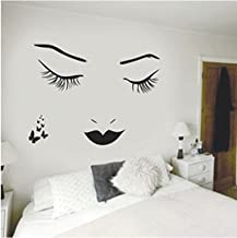 Aigemi Eyelashes Wall Stickers DIY Wall Quote Sticker Decal Home Decor Vinyl Art Mural