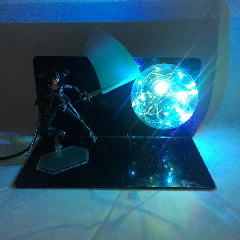 Anime Schwert Gott Domain Tongren Yasina kann kreative Tischlampe LED leuchtende Spielzeug, 3 , Nacht Lichtstecker im Nachtlicht zu tun