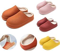 unisex Flip Flops,Winter Waterproof Non-Slip Home Slippers Comfortable Warm Plush Lining (35-36, Pink)