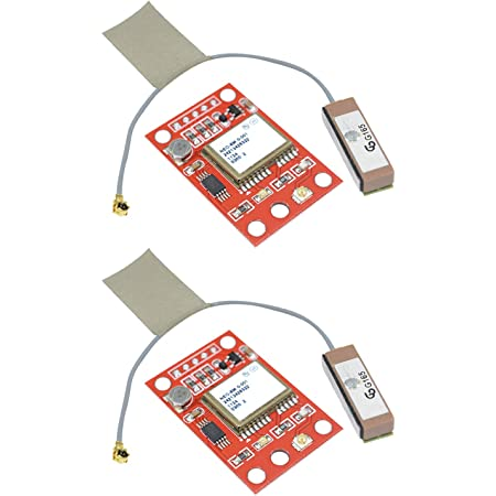 Aideepen 2 PCS GY-NEO6MV2 NEO-6M GPS módulo NEO6MV2 con control de vuelo EEPROM MWC APM2 APM2.5 controlador de antena grande