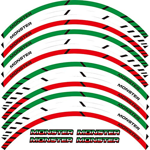 Calcomanías de rueda de rotura exterior de borde de borde de 12 x (Color : 1)