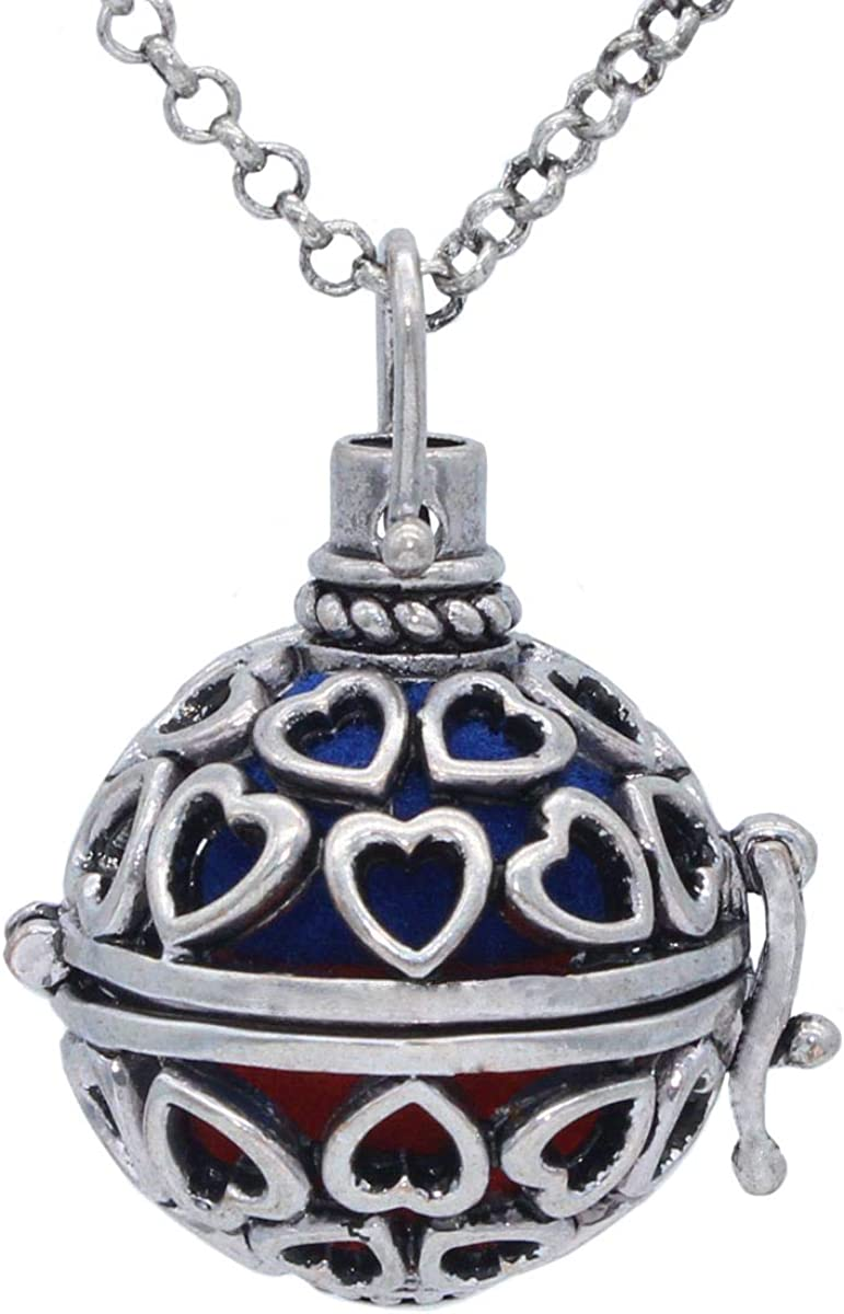 Antique Silver Heart Hollow Locket Essential Pendan Oil Diffuser Charlotte Bombing free shipping Mall
