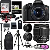 Canon EOS Rebel T6i Video Creator Kit with 18-55mm Lens, Rode VIDEOMIC GO and Sandisk 32GB SD Card Class 10 Premium Ritz Camera Bundle Including: Polaroid Studio Series .43x High Definition Wide Angle Lens, Polaroid Studio Series 2.2X High Definition...