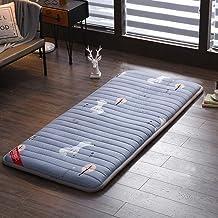 Floor Mattress Non-Slip Thicken Japanese Tatami Mat Foldable Double Futon Mattress Topper for Bedroom Living Room Dorm,Jun...
