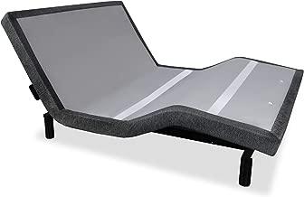 iDealBed iEscape Adjustable Bed Base, Wall Hugger, Wireless Massage, Zero-Gravity, Anti-Snore, Night Light, Memory, Next Gen USB Ports, Queen, Grey