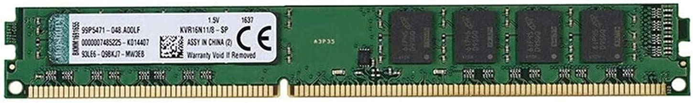 Kingston Value (KVR16N11/8) RAM 8 GB 1600MHz DDR3 (PC3-12800) Non-ECC CL11 240 Pin DIMM Motherboard Memory