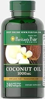 Puritan's Pride Coconut Oil 1000 mg-240 Rapid Release Softgels