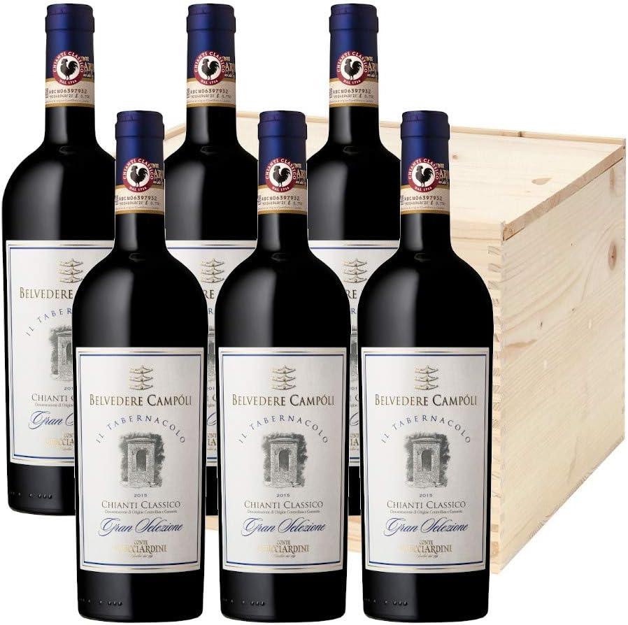 Il Tabernacolo Chianti Classico DOCG Gran Selezione Belvedere a Campoli - vino tinto italiano (6 botellas 75 cl. en caja de madera)