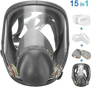 FNWD 15in1 Full Face Large Size Respirator,Full Face Wide Field of View,Widely Used in..
