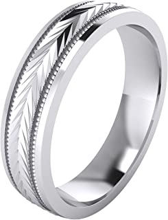 5 Styles Heavy Solid Sterling Silver Wedding Band Diamond...