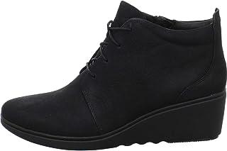 9f1c8c8cfd4 Clarks - Zapatos de Cordones de Cuero para Mujer Negro Negro