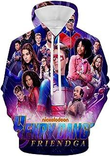 Yesbnow Danger TV Hen-ry Sudaderas con Capucha para Hombre Suéter de Felpa con Capucha Ropa cómoda para niños