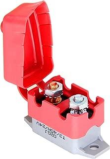 12V ~ 24V Auto-disjoncteur de r/éinitialisation de linverseur de fusibles,Jectse 80-300A Auto Disjoncteur Protection De Voiture avec Manuel Interrupteurs 80A