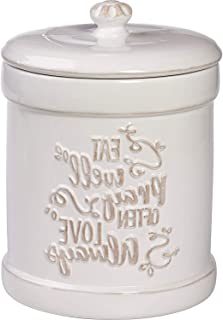 Prеciоus Mоmеnts Home Decor 173413 Ceramic Kitchen Canister Inspirational Home Decor, One Size, Multi