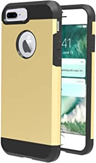 iPhone 8 plus Case,iBarbe Slim Extreme Heavy Duty Rugged Hybrid Impact 2 Color Shockproof Soft Rugged Hard PC Anti-slip Cover Armor Shock Absorption Protection for iPhone8 5.5 plus(gold/black)
