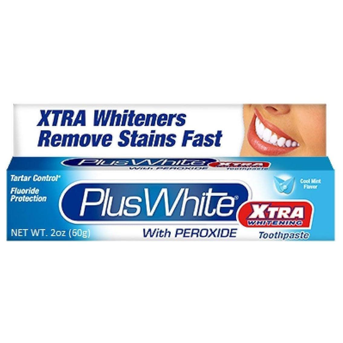 オークションルームましいPlus White 過酸化物2オンスハミガキエクストラホワイトニングホワイトニング(4パック)