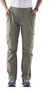 Nonwe Women's Outdoor Quick Dry Water-Resistant Cargo Pants Khaki XL/32 Inseam