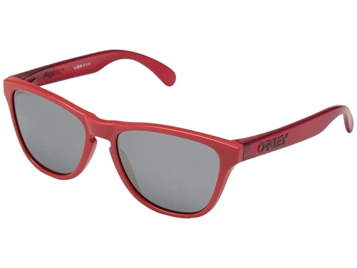 Oakley Frogskin XS (Youth) (Matte Red/Translucent Red w/ Prizm Black) Sport Sunglasses