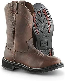 Guide Gear Men's Waterproof 12 Pull-On Leather Work Boots