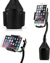 GEARONIC Universal Cup Holder Car Mount Adjustable Cradle Compatible with Smartphones