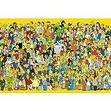 Jqchw Rompecabezas de madera de alta definición Impreso cartel Jigsaw Puzzle 1000 unidades Inicio juego de puzzle rompecabezas animado for adultos Simpson descompresión Inteligencia Juguetes Puzzle Co