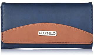 Fostelo Women's Sunrise Two Fold Wallet (Blue)