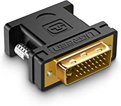 UGREEN Adaptador DVI a VGA, 1080P Convertidor DVI-I 24 5 Macho a VGA Hembra, Cable Adaptador DVI I a VGA con Conector Chapado en Oro para PC, Tarjeta Gráfica, Pantalla, Monitor, HDTV, DVD y Proyector