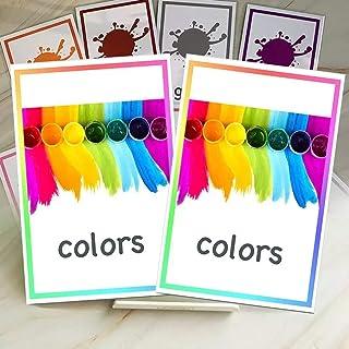 12 قطعة من بطاقات تعلم الكلمات الانجليزية للاطفال من مونتيسوري، بطاقات ملونة، بطاقات ذاكرة فلاش، العاب تعليمية للاطفال