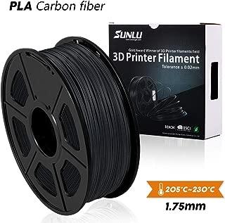 SUNLU PLA Carbon Fiber, Extremely Rigid PLA Carbon Fiber 1.75mm,Premium 3D Printer Filament,+/- 0.02mm, 1 KG (2.2 lb)
