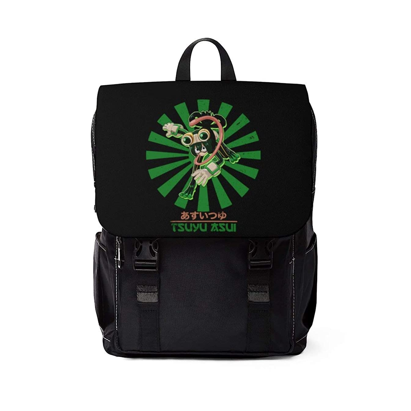 Tsuyu Asui Froppy Vintage Art - My Hero Academia Inspired Unisex Casual Shoulder Daypack Backpack