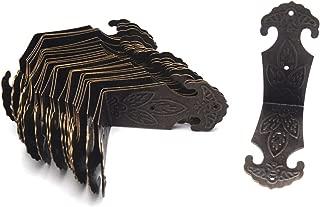 Antrader Vintage Corner Protector Metal L Shaped Decorative Furniture Case Box Cover Corner Guards Bronze Tone, 24 Pack, 2.2