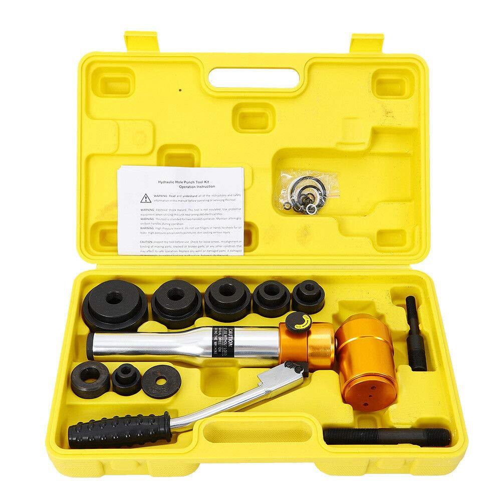 Máquina Perforadora de Agujeros Hidráulicos Herramienta de Tubería Perforadora con Estuche: Amazon.es: Bricolaje y herramientas