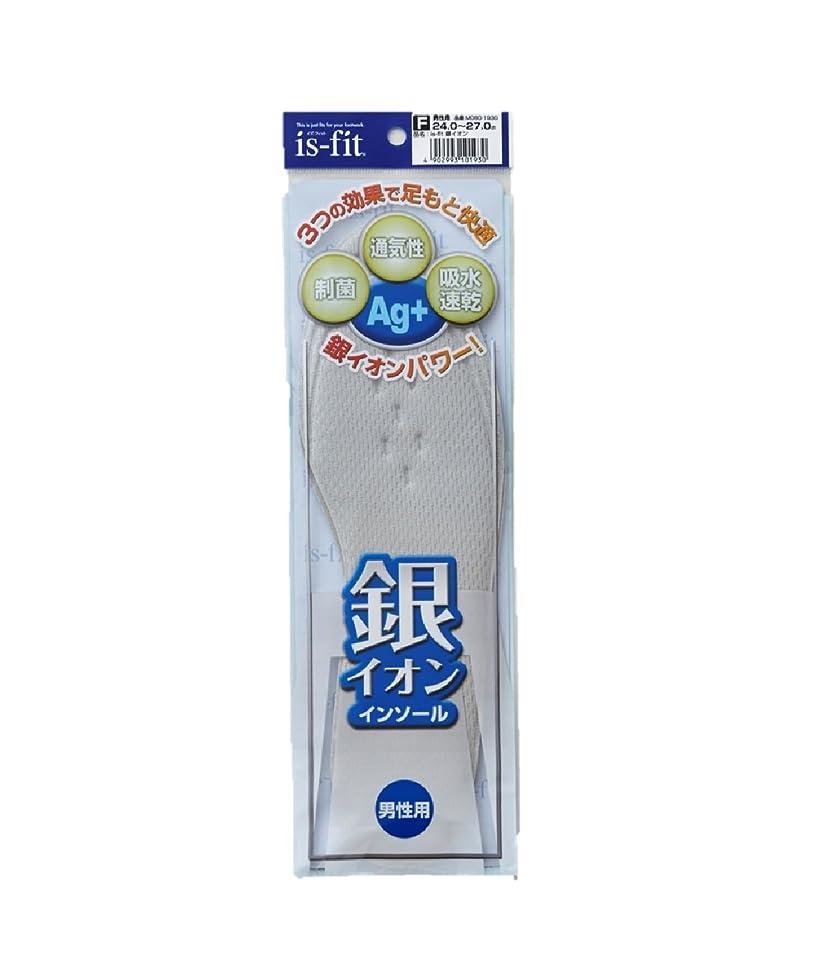 賛辞舗装影is-fit 銀イオンインソール 男性用