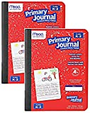 Mead Primary Journal Kindergarten Writing Tablet 2 Pack of RED Primary Composition Notebook for Grades K- 2, 100 Sheets (200 Pages) Creative Story Notebooks for Kids, 9 3/4 in by 7 1/2 in.