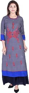 Jaipur Kala Kendra Women's Rayon Straight EmbroideredKurti With Palazzo