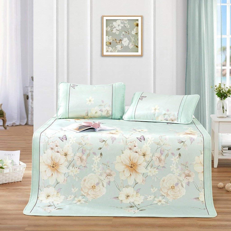 EEvER Schlafmatte Bequeme Matratze Heimtextilien Ice Silk Pad 1.8m Bett DREI Stze von Sommer Faltkissen (Farbe  1, Gre  150  199cm) (Farbe   1, Gre   150  199cm)