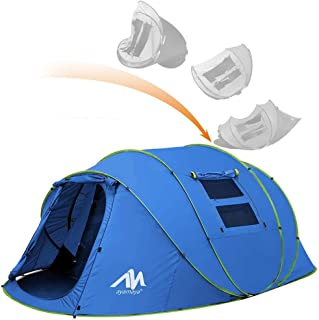 ayamaya Pop Up Tents with Vestibule for 4-6 Person -...
