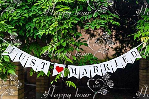 """Musuntas Girlande Vintage / Rustikal """"Just Married"""