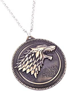 Cool House Stark Necklace Game of Thrones Pendant Decorations Charms for Men/Women Collectable