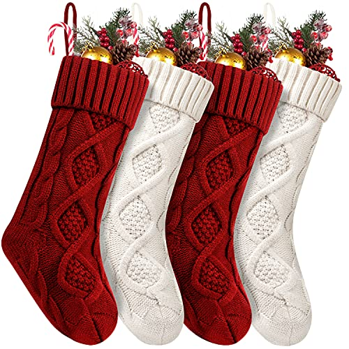 Fesciory 4 Pack Christmas Stockings 18 Inches Large Size...