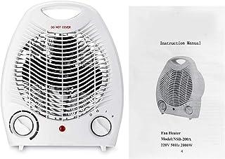 stickerzb Calentador De Ventilador, 220v 2000w Calentador De Espacio Eléctrico Portátil Radiador Eléctrico Personal 3 Configuración De Calefacción Máquina De Calentamiento De Invierno
